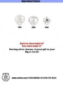 Silver Open Heart Charms