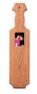 "21"" Straight Edge Oak Paddle - Picture Frame"
