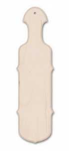 "21"" Scroll Edge Maple Natural Paddle"