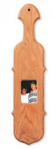 "21"" Scroll Edge Oak Paddle - Picture Frame"
