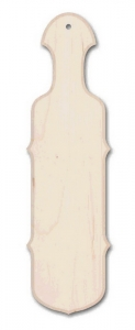 "22"" Wide Scroll Edge Maple Natural Paddle"