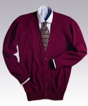 Old School V-Neck Cardigan With Tuff-Pil Plus no pocket