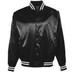 Youth Satin Baseball Jacket - Flannel Lining- Made in USA