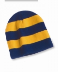 Rugby Striped Knit Beanie