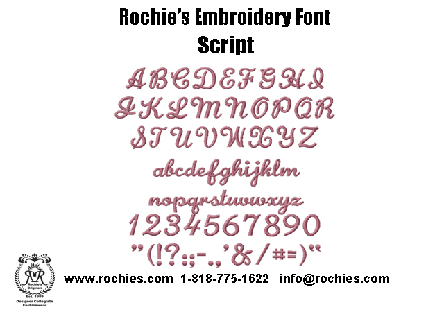 Rochies.com Embroidery Font Script