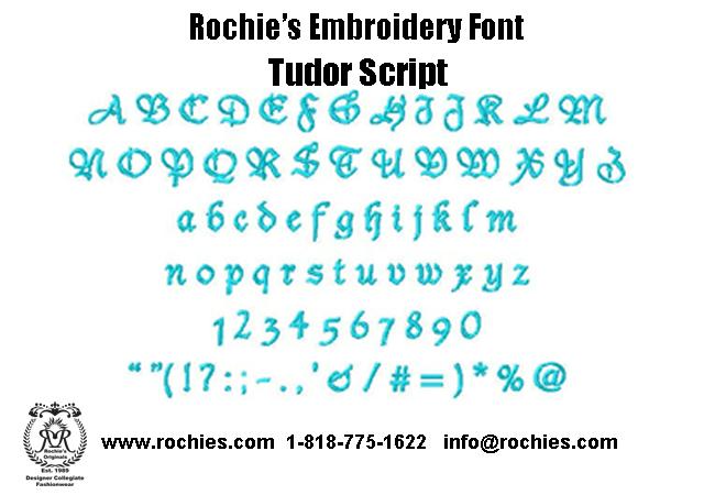 Rochies.com Embroidery Font Tudor Script